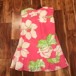 Lilly Pulitzer Strapless Silk Dress